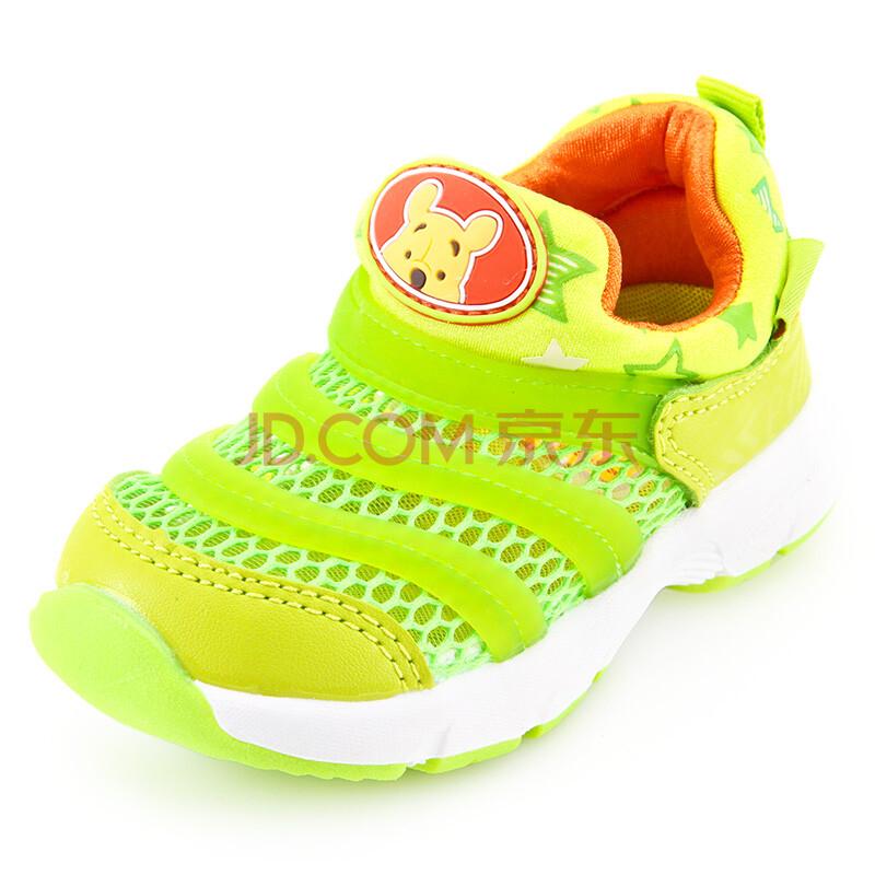 迪士尼春夏宝宝鞋子软底学步鞋毛毛虫男童女童鞋新幼儿童运动网鞋 xz