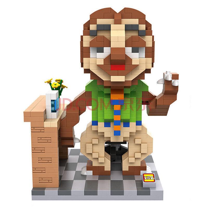 loz 俐智 功夫熊猫 疯狂动物城 儿童益智小颗粒 创意拼插积木玩具