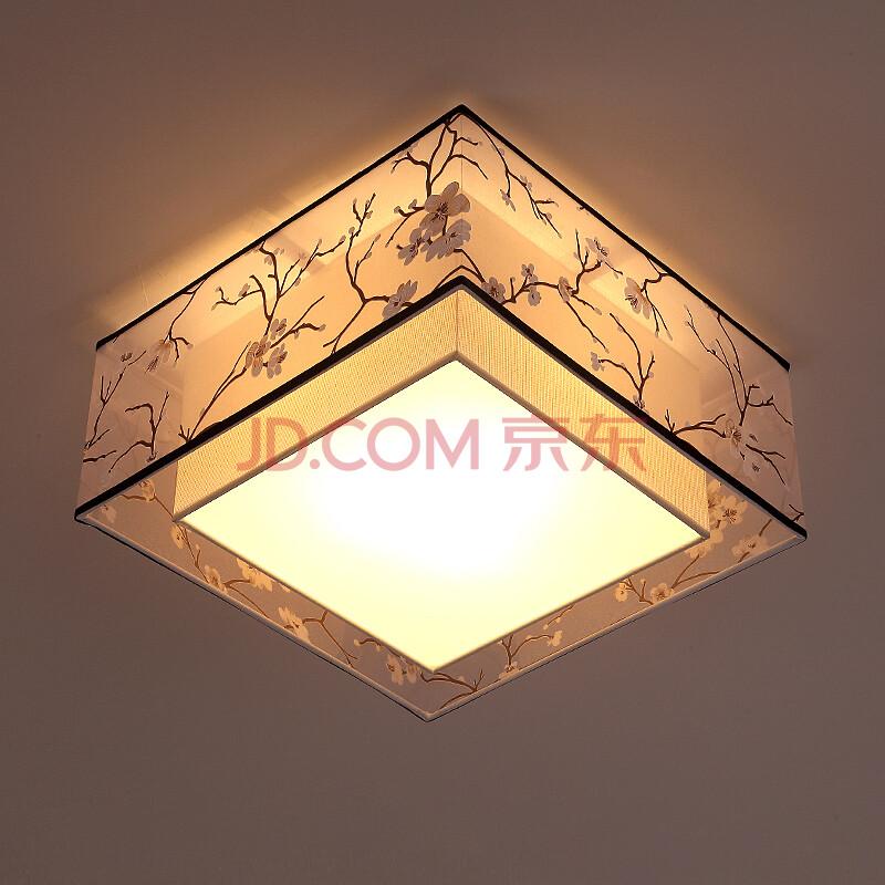 灯派新中式吸顶灯 简约现代圆形客厅灯具温馨卧室灯书房酒店茶楼灯饰图片