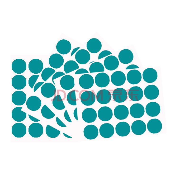 a4彩色不干胶打印纸 圆形数字贴纸 色标贴 防水记号标贴纸 湖绿 直径