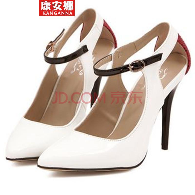 2014中空细跟高跟鞋秋女的凉鞋GB 白-高跟鞋 秋 高跟鞋 秋冬女士高