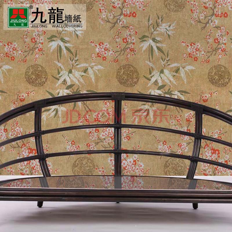 中式包间壁纸贴图