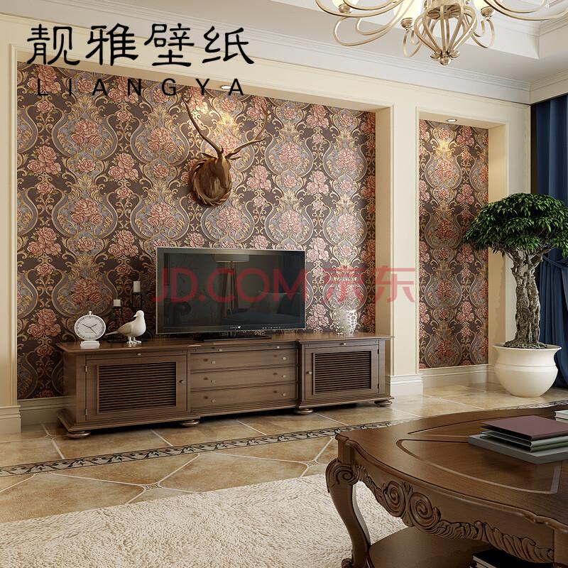 欧式卧室客厅电视背景墙影视墙壁纸图片