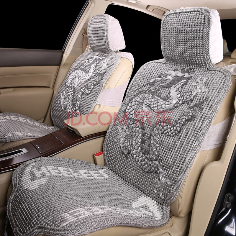 魅驰 汽车坐垫 新款纯手工编织夏季冰丝座垫 灰色 福特翼虎
