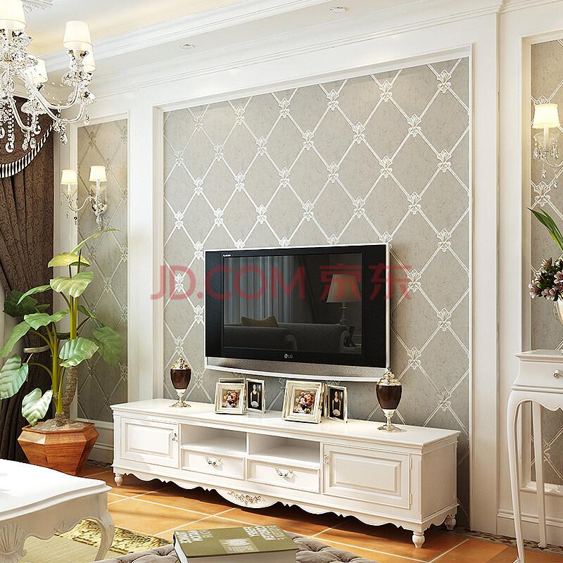 壁纸 客厅电视背景墙欧式现代简约墙纸 卧室软包 菱形图片