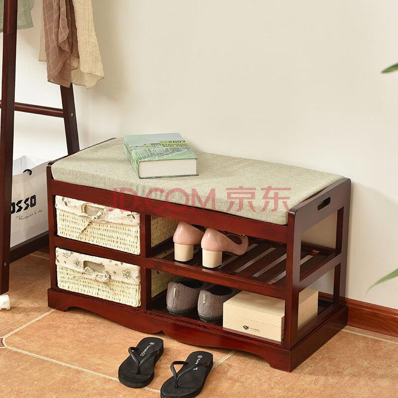 实木鞋柜鞋架 简易穿鞋凳门厅换鞋凳储物凳子 欧式多功能收纳鞋柜