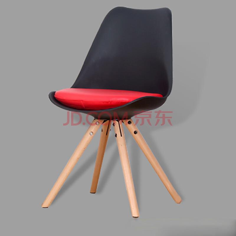 物色家实木休闲椅-伊姆斯椅子设计师坐垫餐椅简约现代