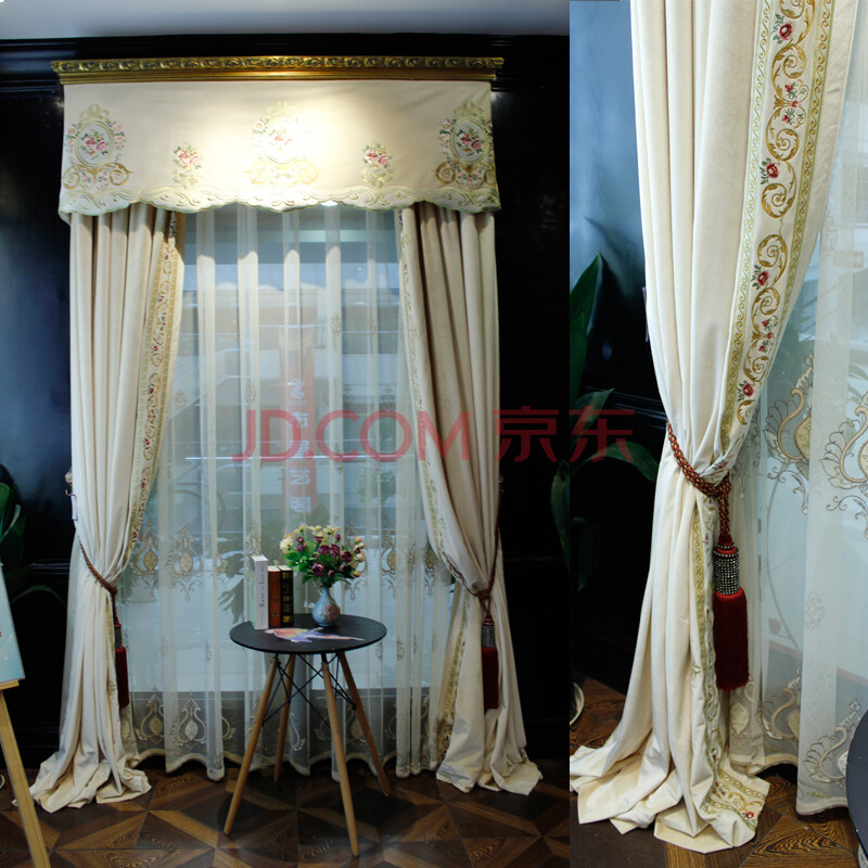 曼凯维奇欧式田园奢华窗帘客厅卧室布帘窗纱定制新品遮光帘 布帘 需要