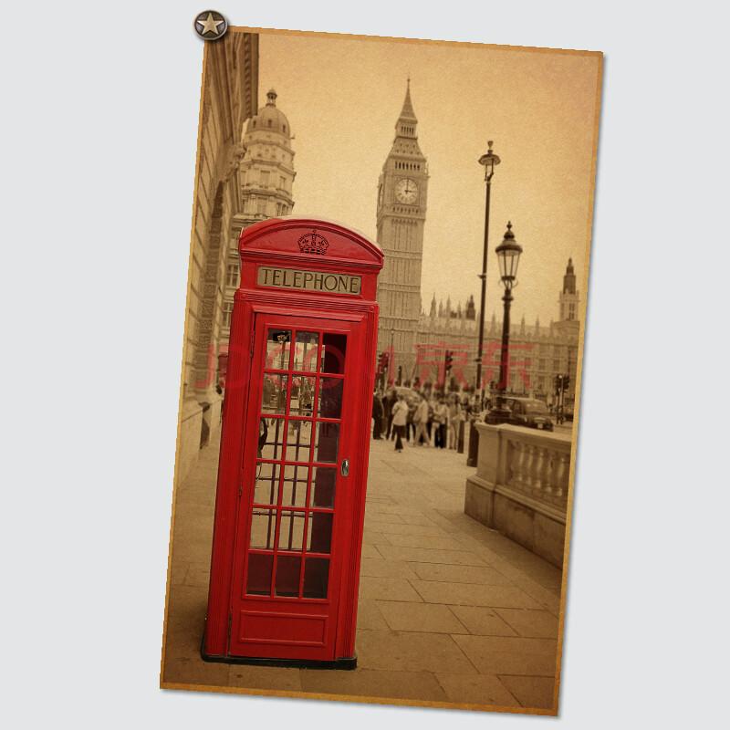 世界著名建筑物 经典怀旧 欧美风情 复古牛皮纸海报 装饰海报画 nb496