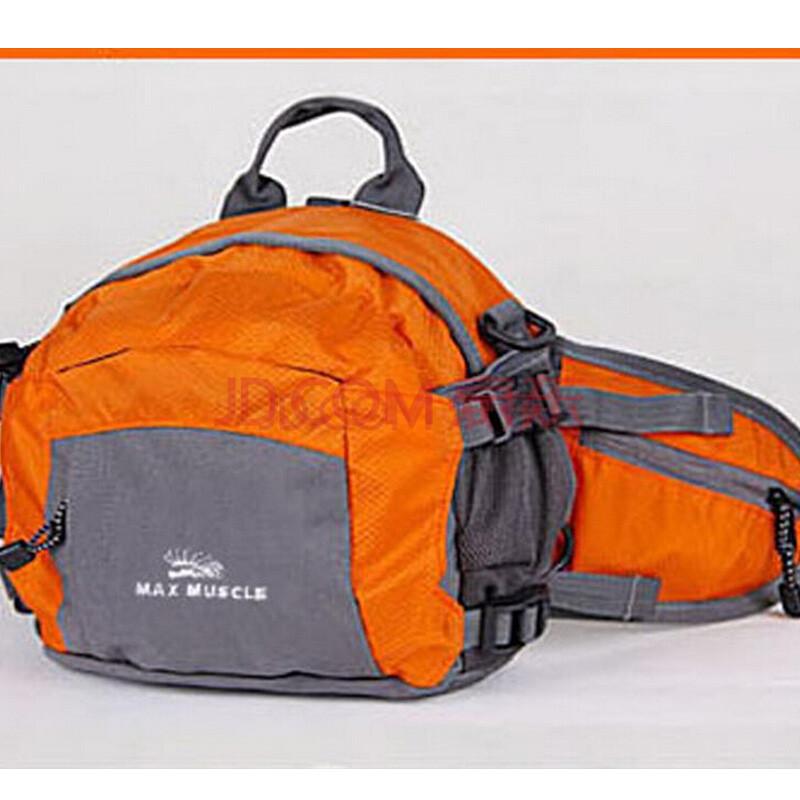 斜挎包 登山包 双肩背包旅行包多功能腰包 防水尼龙 可拆卸背带 桔色图片