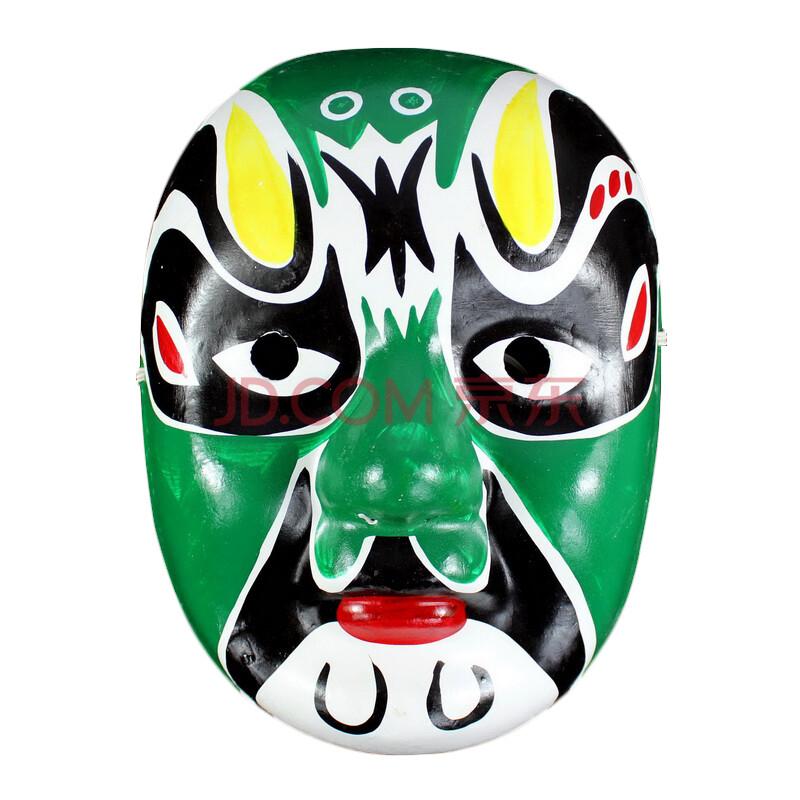 仕彩 手绘面具 纸浆面具 中式面具 变脸专用道具 京剧脸谱面具 朱温1图片
