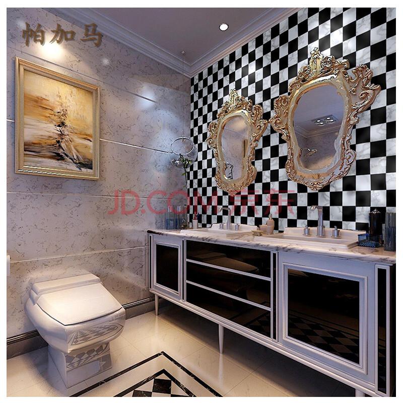 帕加马 pvc自粘墙纸 欧式店铺装修客厅卧室儿童房黑白图片