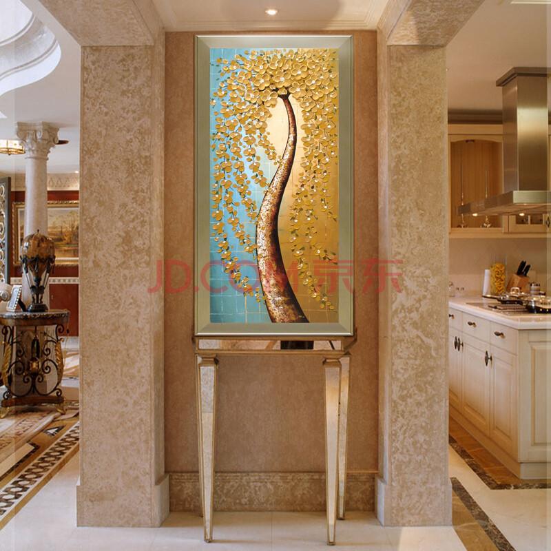原始原素纯手绘油画欧式客厅壁画玄关走廊装饰画有框挂画抽象画3d立体图片