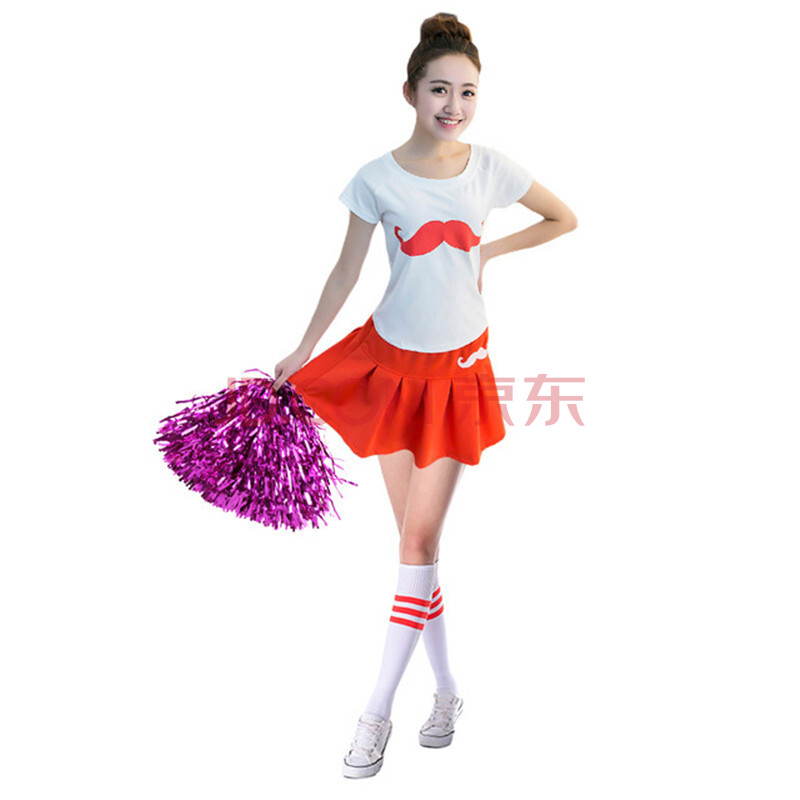 新款中学生广播体操健美操啦啦操舞蹈演出服套装 性感图片