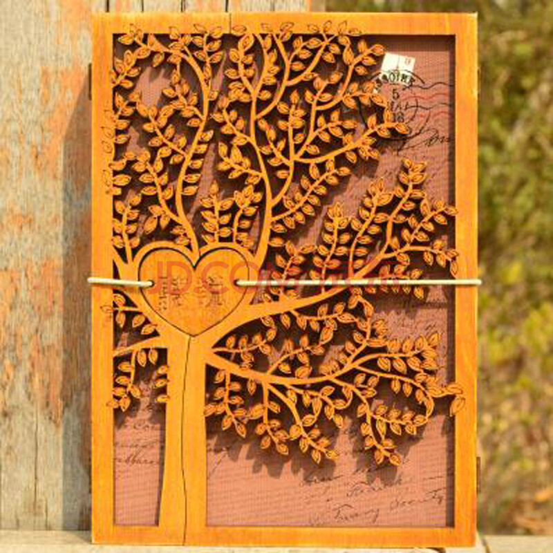 韩国同学录手绘木质小学生复古木盒装小清新创意唯美毕业纪念册 听说d