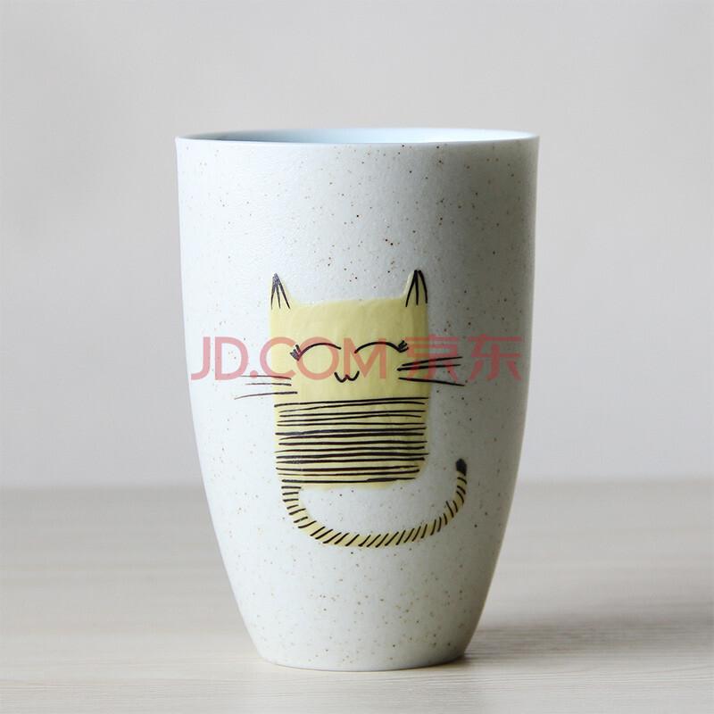 景德镇陶瓷杯子 手工个性水杯 创意手绘磨砂单手杯 牛奶杯马克杯礼品