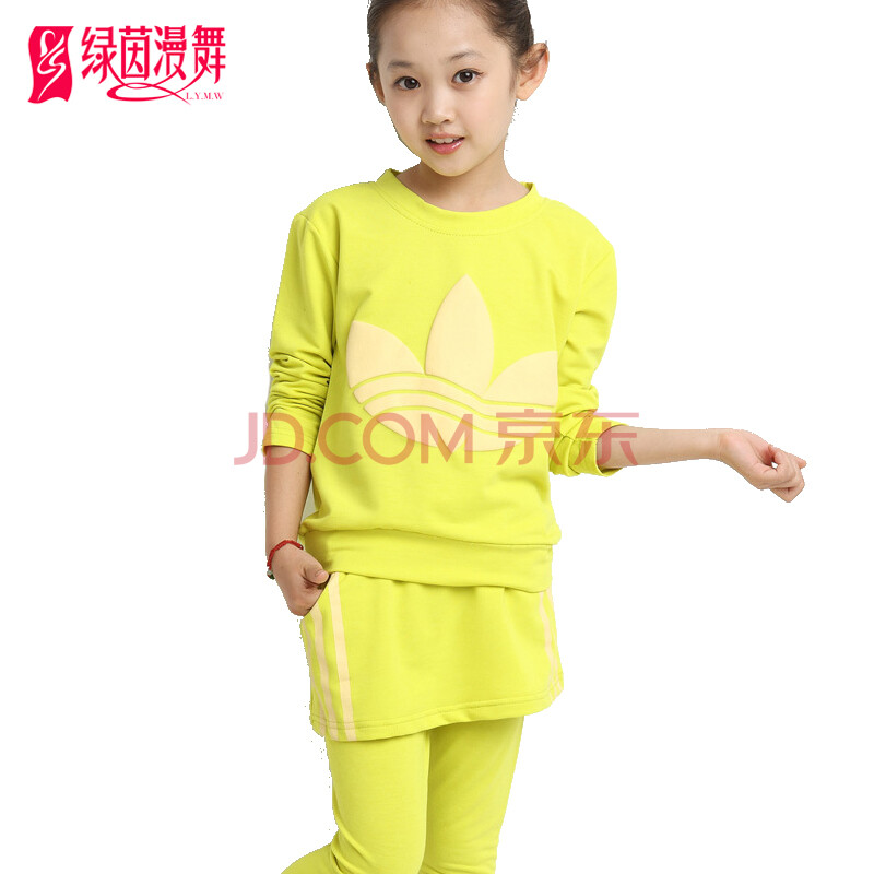 秋季新款女童运动服套装儿童长袖t恤套装两件套中大