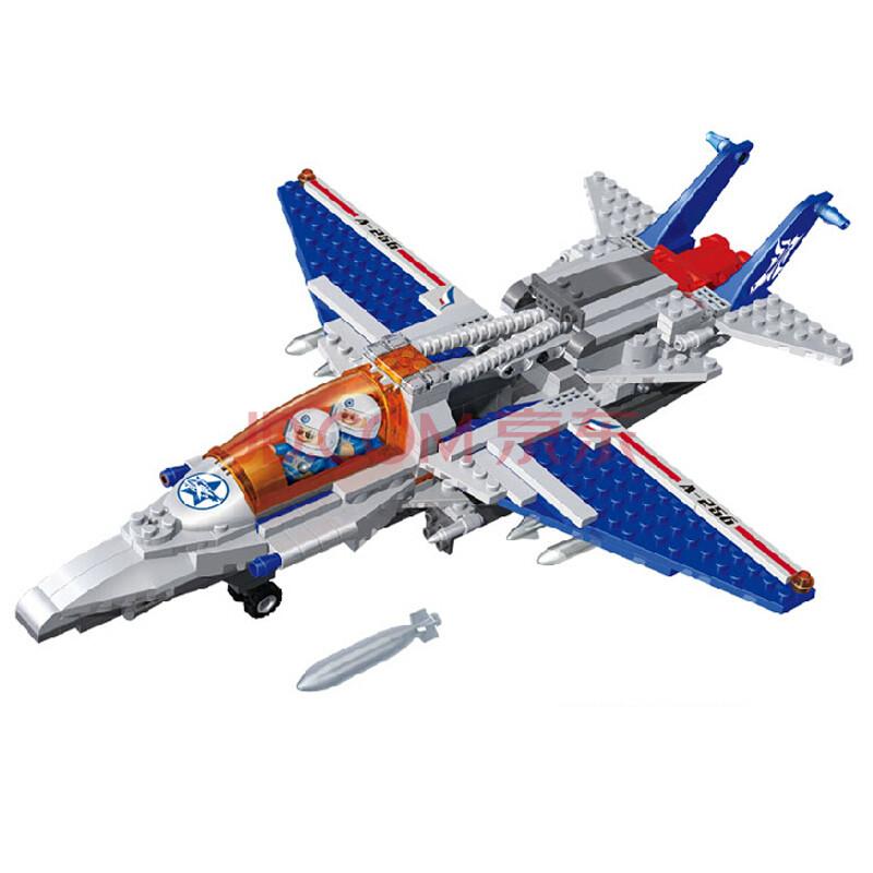 邦宝积木乐高式拼插颗粒益智儿童玩具积木军事飞机多