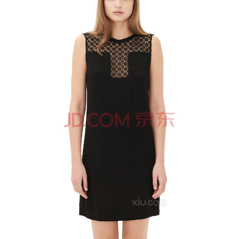 蕾丝连衣裙短袖黑色