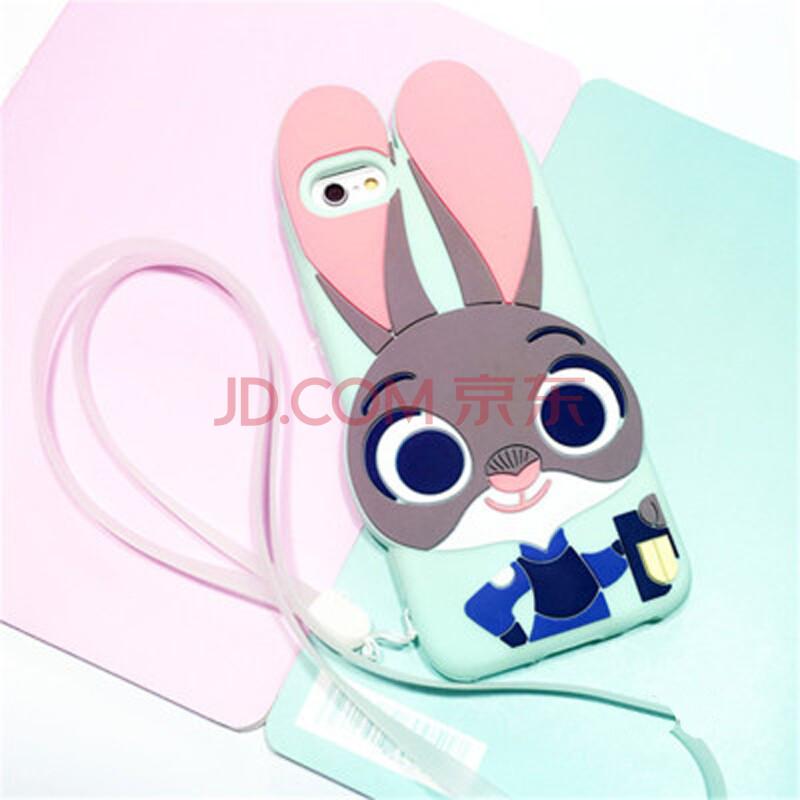 疯狂动物城朱迪兔子 苹果6s手机壳iphone6/plus/5s保护套创意硅胶 绿