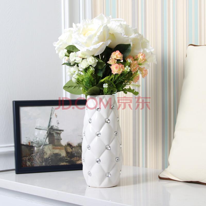 餐桌花瓶仿真花干花家装饰品欧式客厅电视柜
