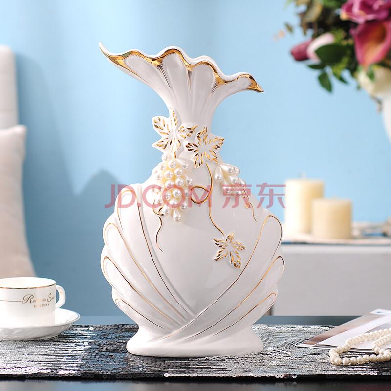 英伦欧堡 欧式客厅家居软装饰品陶瓷工艺品花瓶 现代时尚花器摆件结婚图片