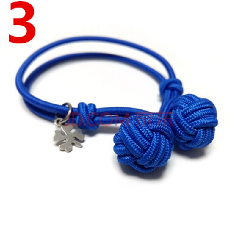 酷美人 蓝色编织绳结手绳手链情侣款手环 3