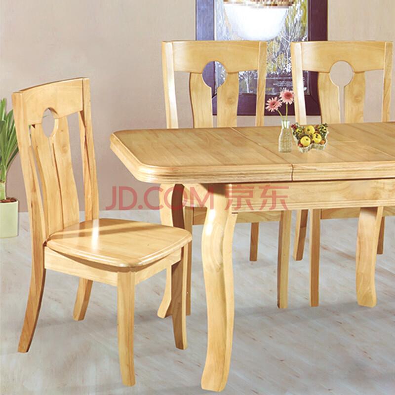 实木餐桌椅组合小户型图片