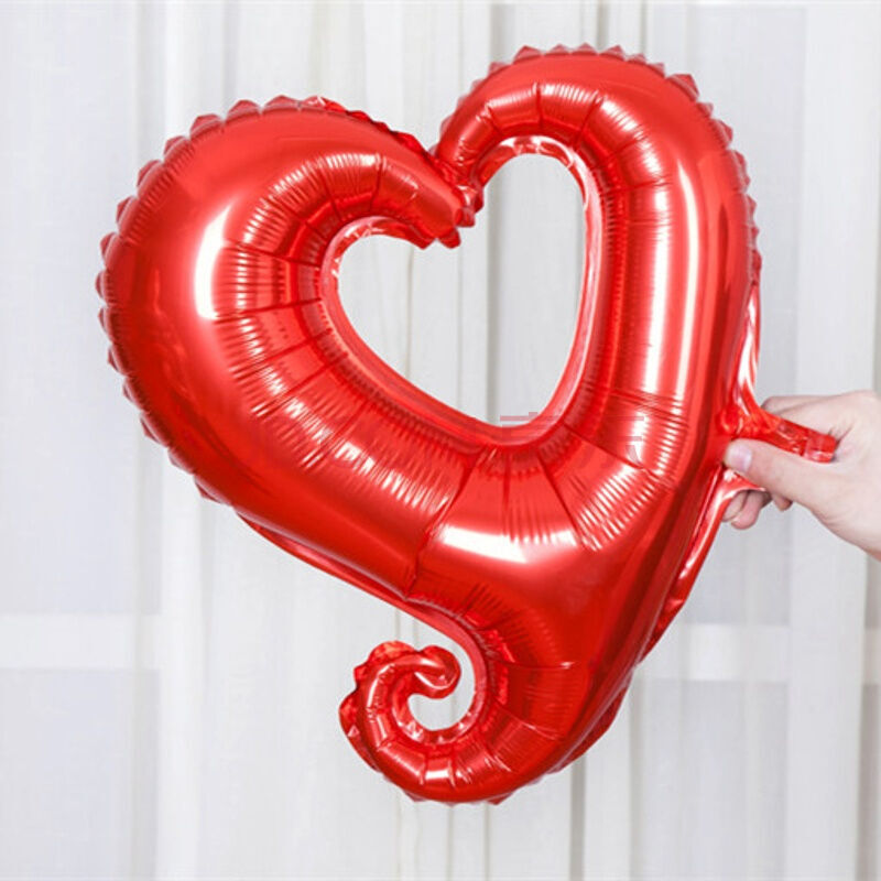 浪飞舞 18寸小勾勾心形铝箔气球 空心爱心铝箔铝膜气球 结婚庆婚房