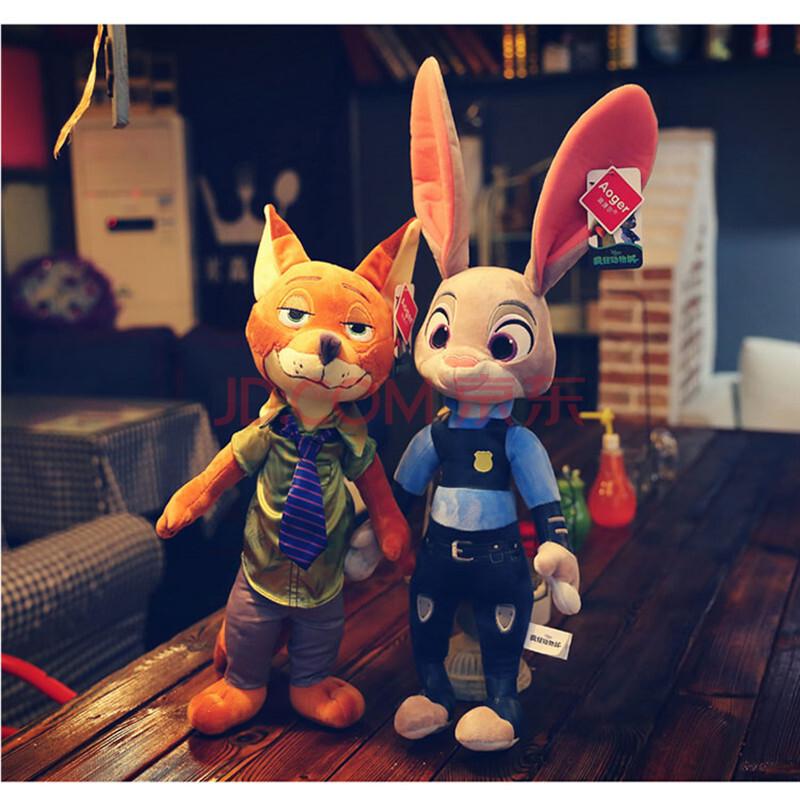 疯狂动物城公仔兔子朱迪狐尼克毛绒玩具布娃娃抱枕玩偶女生日礼物