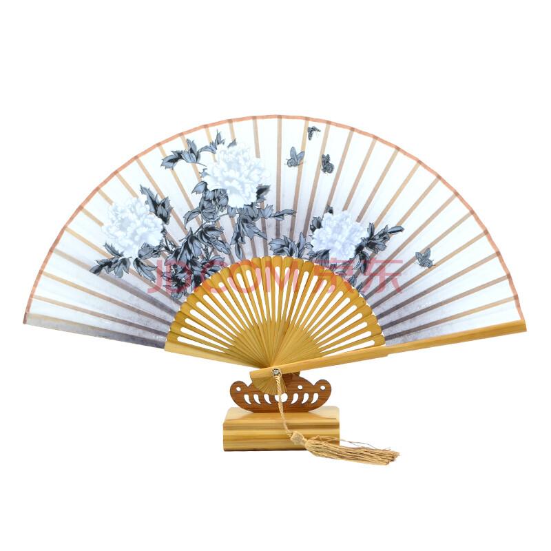 浙乡邮礼 碎花女扇 绸缎扇子 扇子中国扇 古风扇子折扇中国风扇子