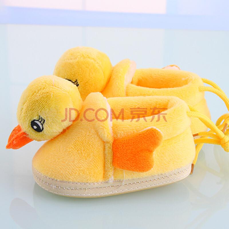 2014新款婴幼儿宝宝可爱小鸭子棉鞋男女童小童萌萌哒绒面外出保暖鞋