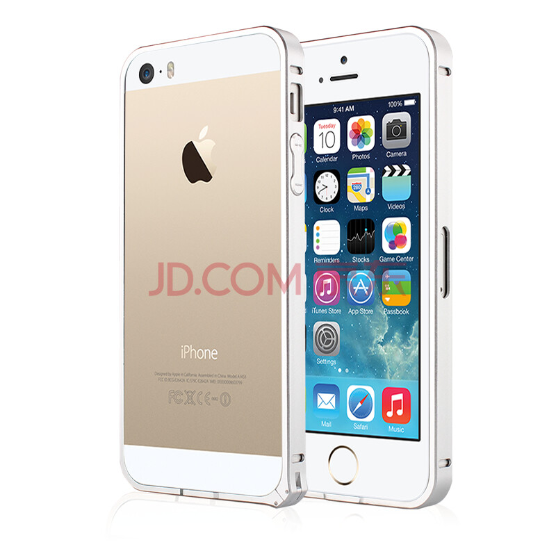 puerile 超薄金属边框手机壳手机套保护壳 适用于iphone5/5s 苹果5/5s