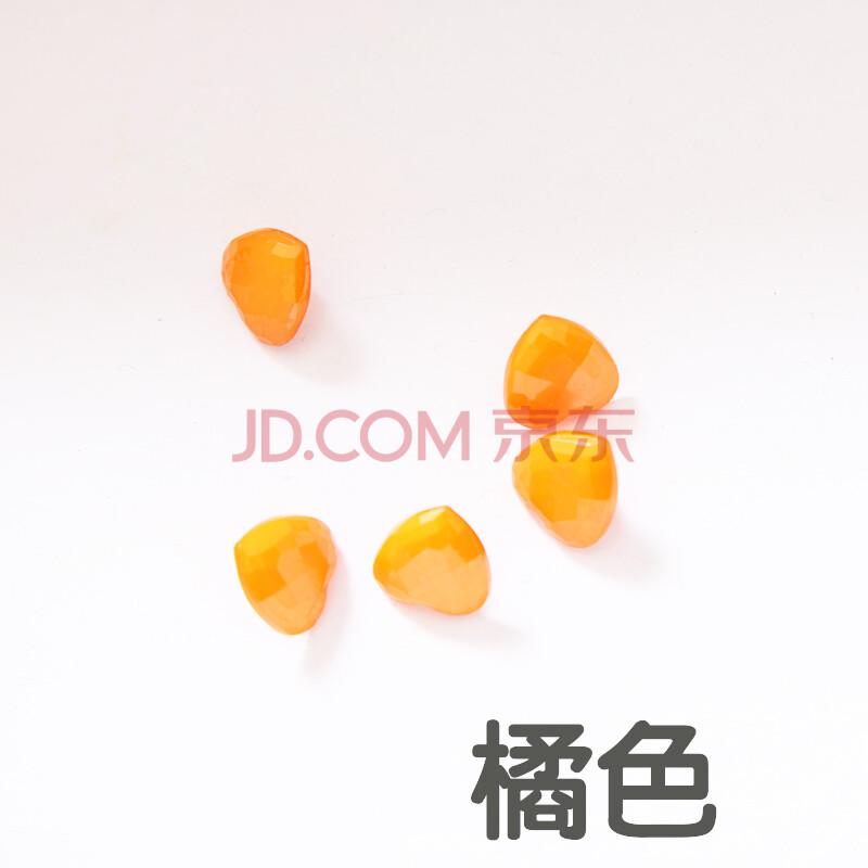 布艺手工制作diy辅料/桃心纽扣/毛衣毛线配饰1.5公分扣子 橘色 6颗