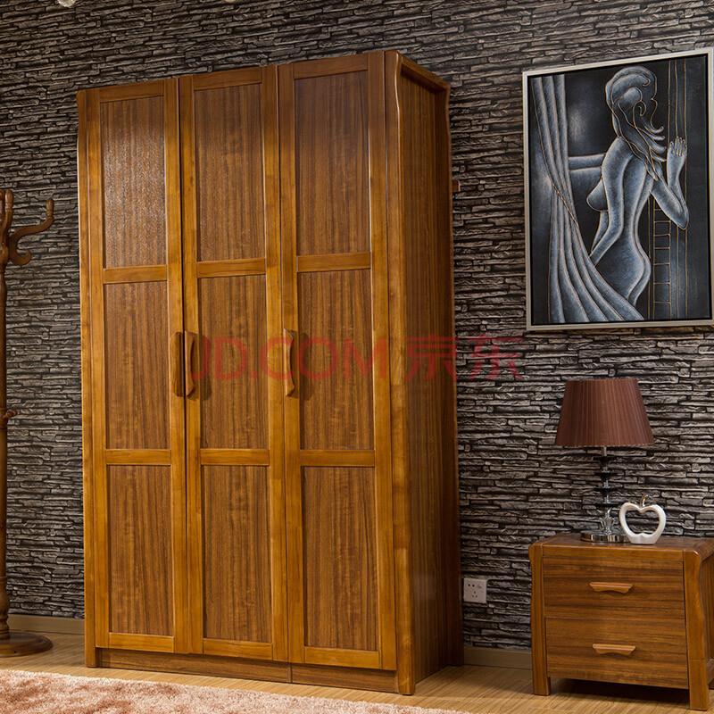 对屋虎斑木色家具橡木现代简约实木衣柜 中式衣柜 实木衣柜 卧室衣柜