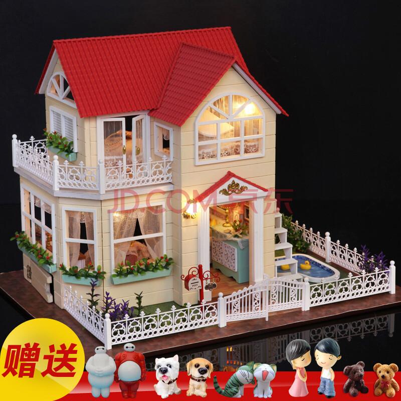 公主小屋diy小屋手工制作拼装模型大型别墅玩具创意生日礼物男女 公