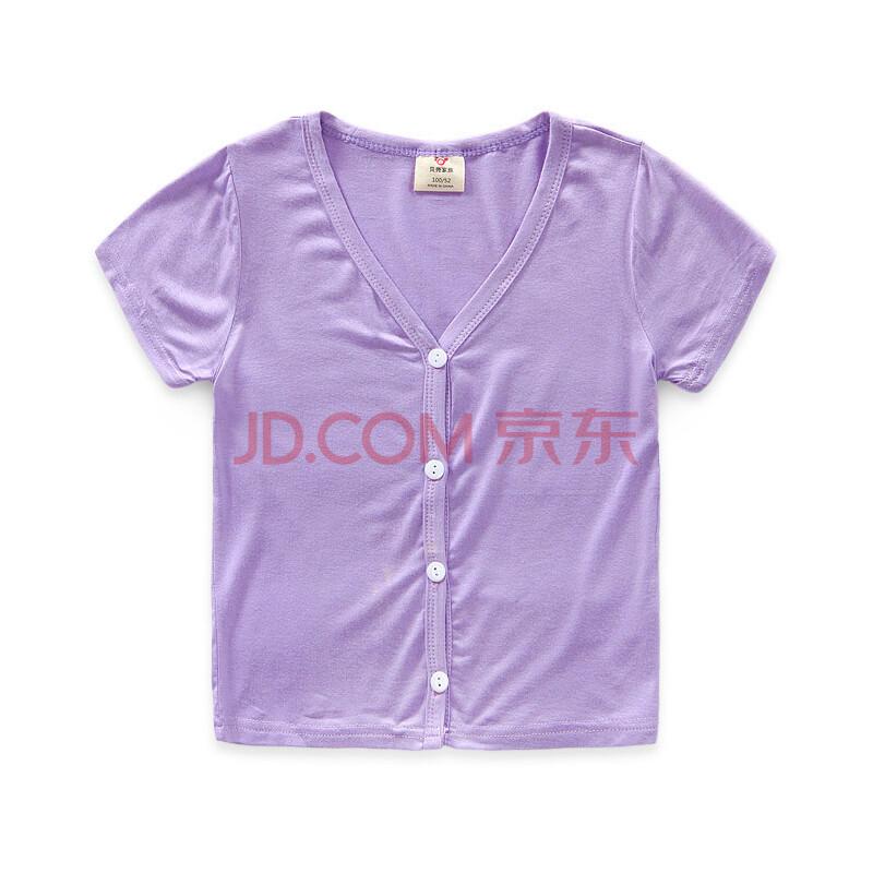 贝壳家族 童装防晒衫女童夏装薄外套短袖纯色开衫空调