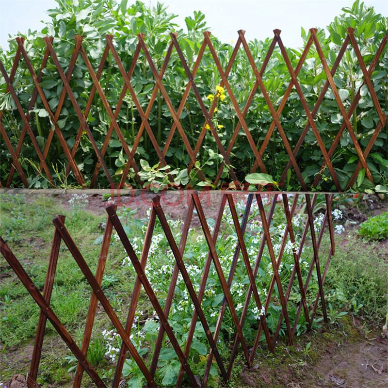 伸缩木栅栏围栏网格花架木篱笆木格栅爬藤架碳化防腐木伸缩木拉网 h12