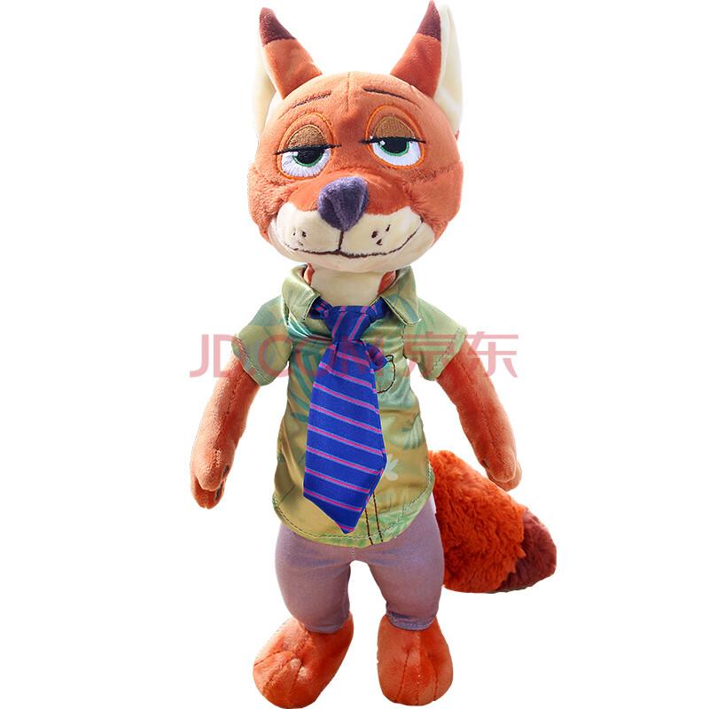 正版疯狂动物城公仔兔子朱迪狐狸尼克毛绒玩具布娃娃玩偶儿童节女生