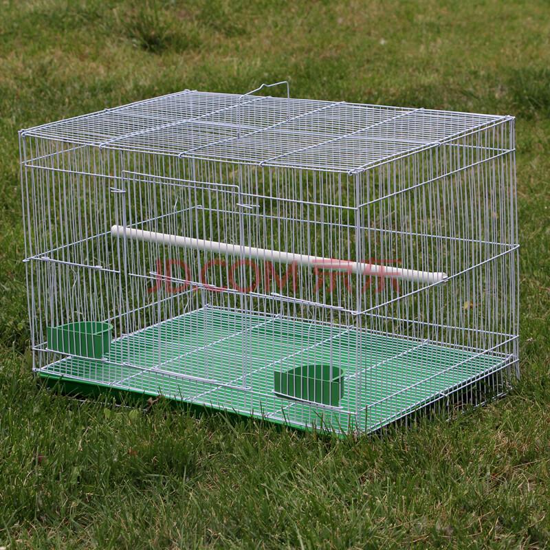 金属折叠鸟笼子八哥鹩哥鸽子笼虎皮鹦鹉笼相思鸟笼子群鸟笼 小号中号