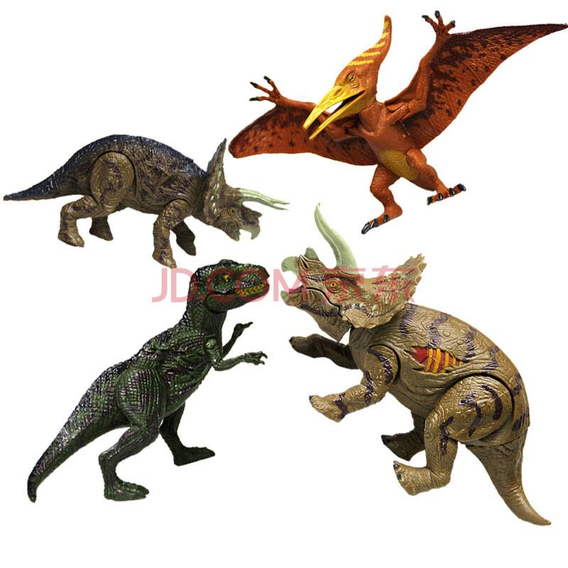 仿真恐龙模型玩具 实心肢体可动 静态家畜动物 男孩礼物 远古恐龙系列