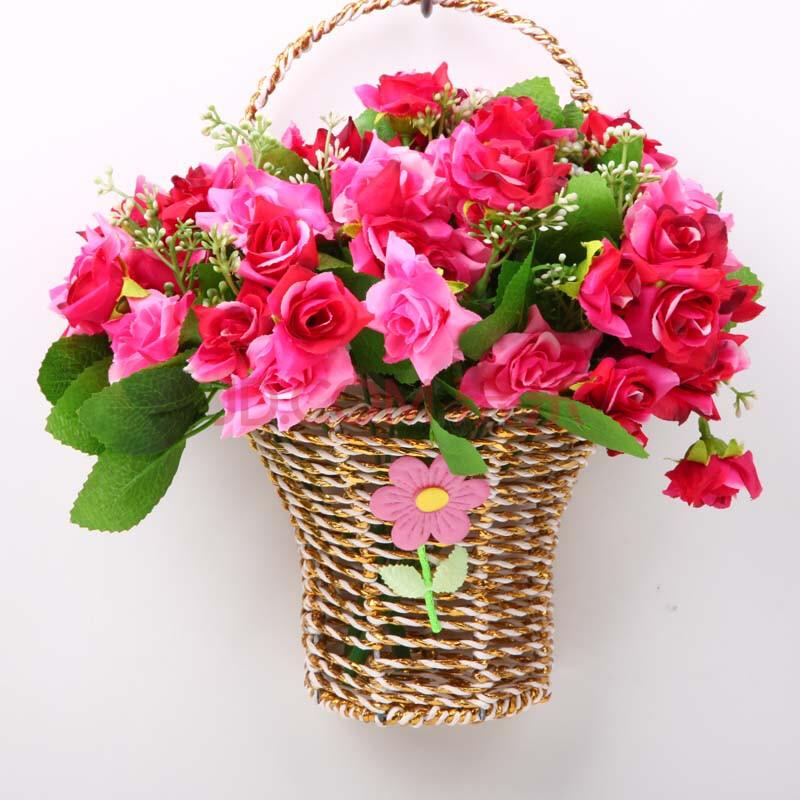 福嘉福欧式壁挂花瓶花篮墙面壁饰挂件花艺田园家居墙上挂饰墙壁装饰品图片