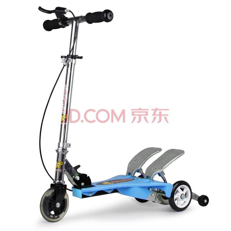 欧标蛙式叭叭跑双踏滑板车儿童三轮踏踏车踏板车双车