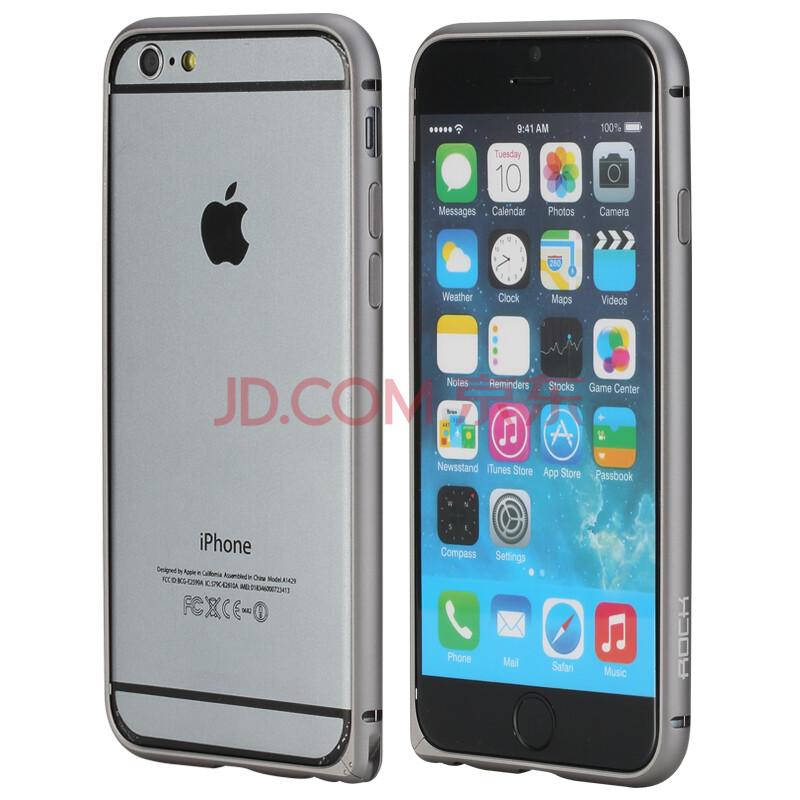 洛克(rock) 轻薄金属边框手机壳保护套 适用于苹果6/iphone 6 plus 4.