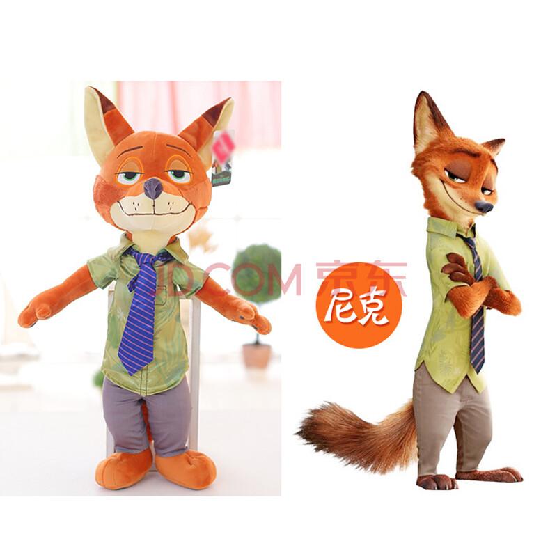 迪士尼disney 动画疯狂动物城兔子朱迪和狐狸尼克公仔图片