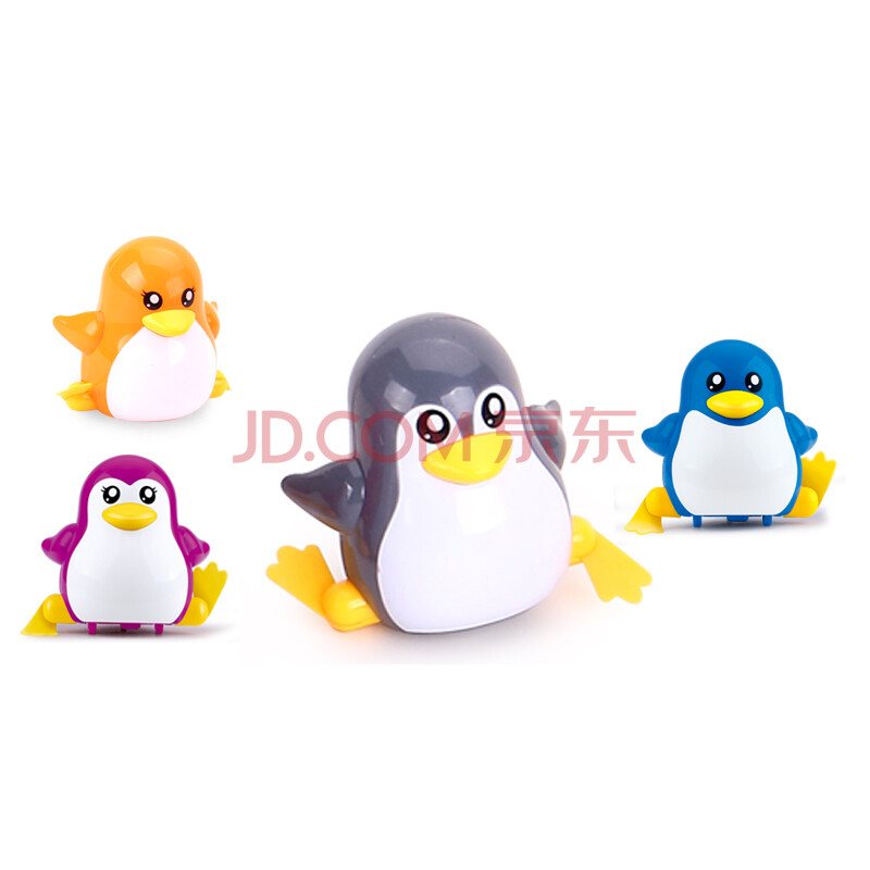 玩具18种卡通小动物上弦玩具早教益智类玩具 奔跑小企鹅(颜色随机)