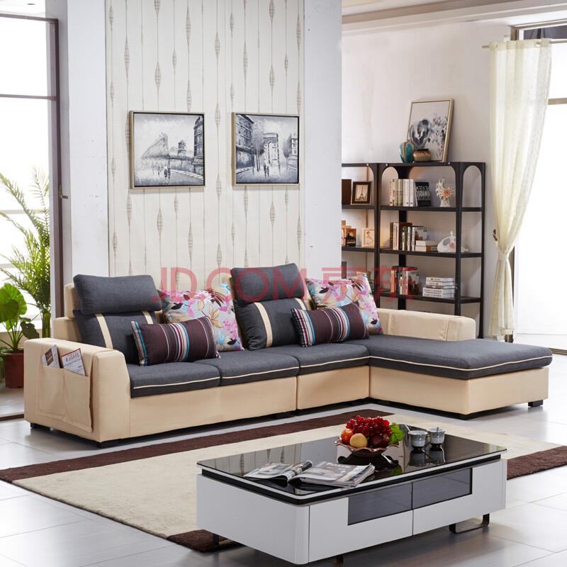 爱尚小户 小户型沙发 布艺沙发 沙发组合 客厅家具 b款 单人 双人图片