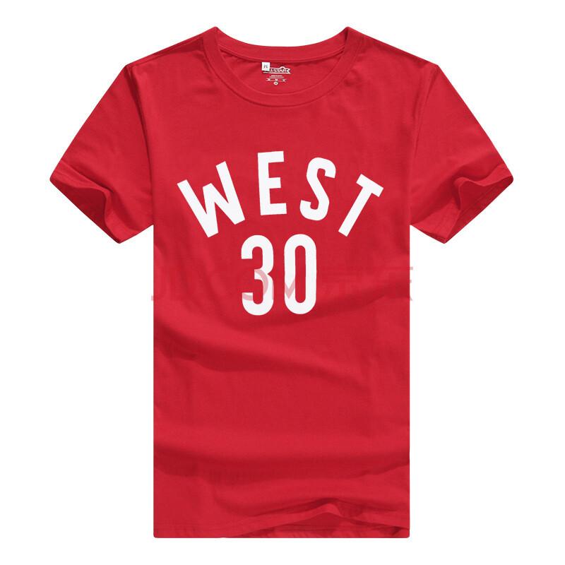 运动短袖t恤 男夏季休闲篮球上衣 青少年学生体恤衫 红色 xl