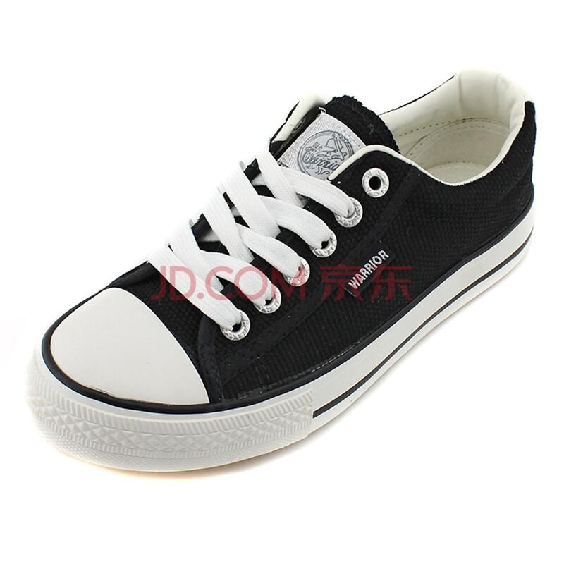 回力 帆布鞋男女情侣款休闲鞋低帮系带帆布鞋 WXY45 黑色 41码
