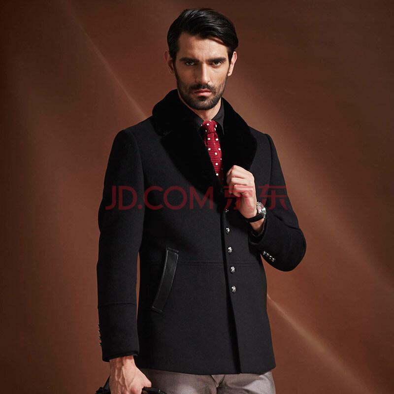英伦修身呢子大衣 羊毛呢大衣